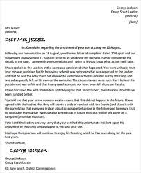 collection of solutions answering a complaint letter sample for