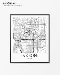 of akron map akron map akron akron print akron oh poster akron ohio