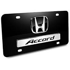 honda accord logo amazon com honda accord 3d logo chrome steel license plate