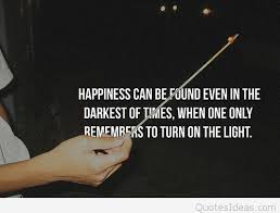 light happiness quote