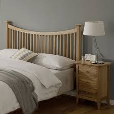 spirit oak double slatted 4ft 6 headboard