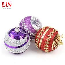 Styrofoam Christmas Decorations - 8cm sequins glitter christmas ornaments tree pendant decoration