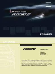 2009 hyundai accent owner u0027s manual usa seat belt airbag