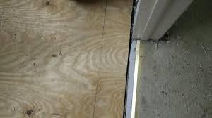 bathroom unsupported subfloor hanging over joist home
