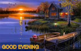 good evening scenery view hd wallpaper
