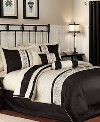 King Black Comforter Set 7 Piece Cal King Jefferson Black And White Comforter Set