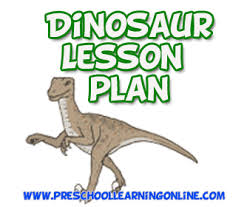 dinosaur lesson plan kids preschool learning