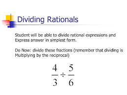 rational expressions student will be able to simplify rational