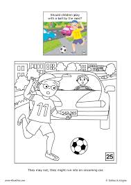 street safety coloring pages hellokids com