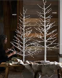 roost winter glitter lighted trees modish store
