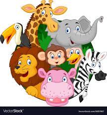 Cartoon Safari Animals Royalty Free Vector Image