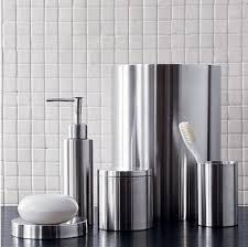 stainless steel accessories for a modern bathroom