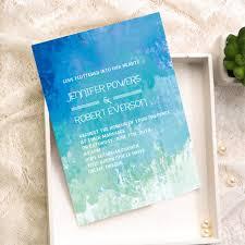watercolor wedding invitations wedding invitations shades of blue summer watercolor