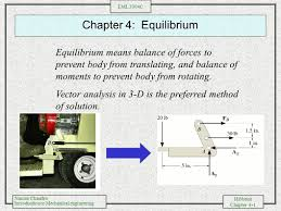 chapter 4 equilibrium equilibrium means balance of forces to