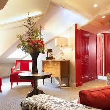 Red Door Home Decor Bathroom Marvelous Attic Bedroom With Red Door And Red Furniture