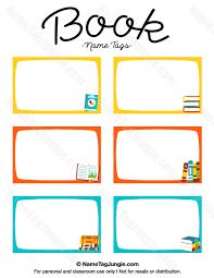printable name tags printable book name tags