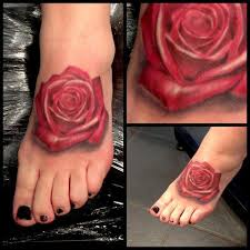 rose tattoo on foot done today big tattoo planet community forum