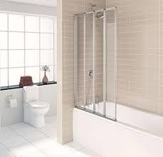 Bath Shower Panels Coram Folding Bath Screen Polyester Waterproof Bath Curtains