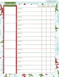 christmas card list organizer template business template