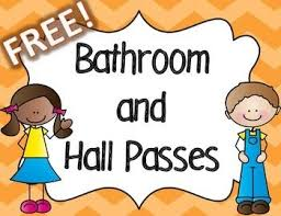 bathroom pass ideas this colorful set for your classroom includes