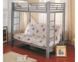 coaster furniture twin over futon bunk bed in silver bunks co7399
