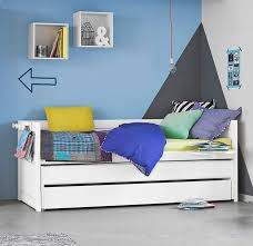 day bed with pull out bed drawer white for kids in s a