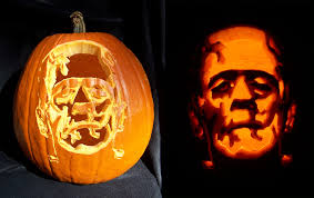 lighted halloween pumpkins decorating ideas gorgeous picture of lighted frankenstein jack o