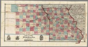 Map Of Missouri State by New Rail Road U0026 Township Map Of Missouri And Kansas David Rumsey