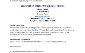 general laborer job description resume for college level