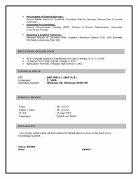 Sample Resume For Procurement Officer by Sap Mm Materials Management Sample Resume 10 00 Years Experience