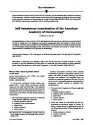 wood l examination dermatology self assessment examination of the american academy of dermatology