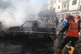 Car Interior Smoke Bomb Egypt Attack Police Officer Killed In Roadside Bomb Blast In