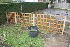 with cedar privacy fence back side a cheap backyard deck ideas