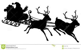 santa sleigh and reindeer free black and white santa claus with sleigh and reindeer clipart