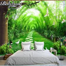 3d wallpaper for bedroom beibehang 3d wallpaper fresh forest road 3d tv background wall