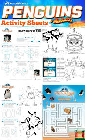 penguins madagascar activity sheets