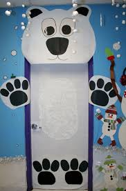 Office Christmas Door Decorating Contest Ideas Classroom Polar Bear Door Decoration Classroom Crafts