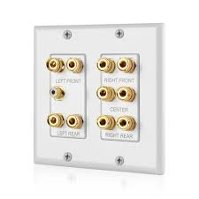 home theater connection home theater wall plate 5 1 surround sound banana binding post