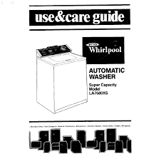 whirlpool washer la7680xs user guide manualsonline com