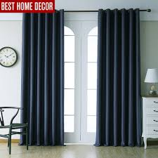 Blue Window Curtains by Online Get Cheap Blackout Blue Curtains Aliexpress Com Alibaba