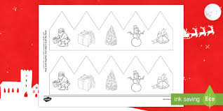 christmas pictures party hat template activity arabic english