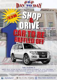 mitsubishi dubai shop and drive day to day al fahidi raffle promo