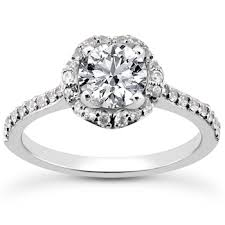 flower halo engagement ring unique halo flower engagement ring setting 0 5ct 1 5ct