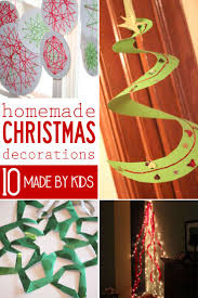 10 homemade christmas decorations for kids to make homemade the