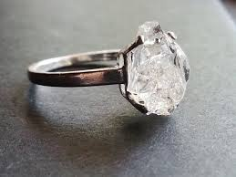 natural engagement rings images Made to order raw quartz ring natural rough uncut gemstone jpg