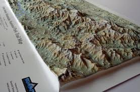 Smoky Mountains Map Great Smoky Mountains National Park In Miniature Summitmaps