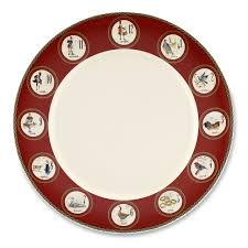 christmas plates 12 days of christmas dinner plate williams sonoma