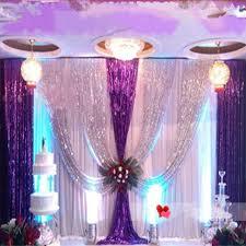 wedding backdrop layout upscale sequins fabric wedding backdrop decoration gauze curtain