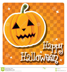 happy halloween card with cute pumpkin stock photo image 26966720