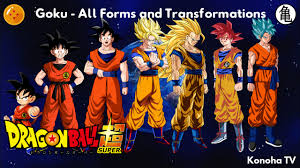 goku forms transformations update super saiyan blue